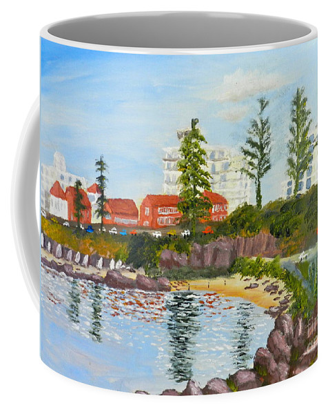 Impressionism Coffee Mug featuring the painting Belmore Basin From The North Sea Wall by Pamela Meredith