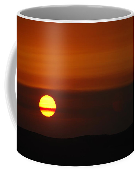 Sunset Coffee Mug featuring the photograph Belted Sun by Donna Blackhall