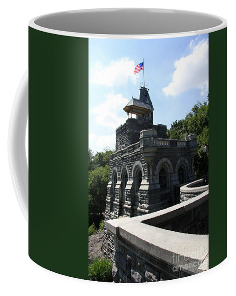 Belvedere Castle Coffee Mug featuring the photograph Belvedere Castle - Central Park by Christiane Schulze Art And Photography