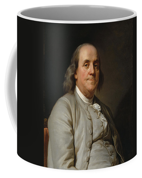 Joseph-siffred Duplessis Coffee Mug featuring the painting Benjamin Franklin by Joseph-Siffred Duplessis