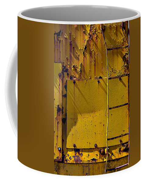 Bent Ladder Coffee Mug featuring the photograph Bent Ladder by Garry Gay