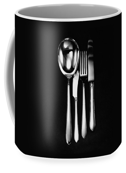 Home Accessories Coffee Mug featuring the photograph Berkeley Square Silverware by Martin Bruehl