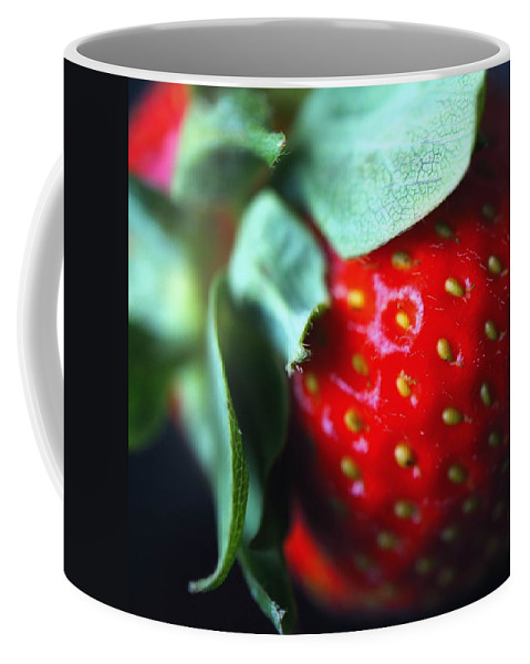 Square Format Coffee Mug featuring the photograph Berry Red by Jenny Hudson