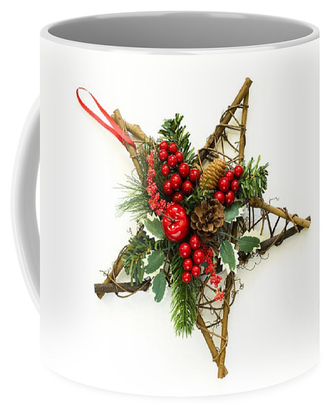 Artifical Coffee Mug featuring the photograph Berry Star by Anne Gilbert