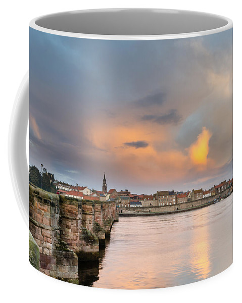 Northumberland Coffee Mug featuring the photograph Berwick And Its Old Bridge by David Head