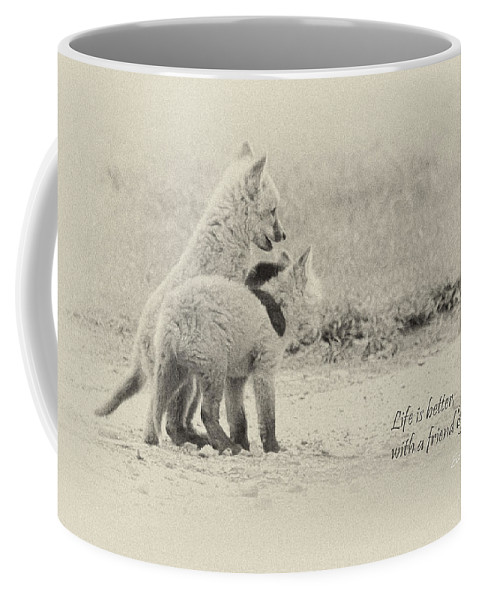 Fox Coffee Mug featuring the photograph Best Friends by Everet Regal