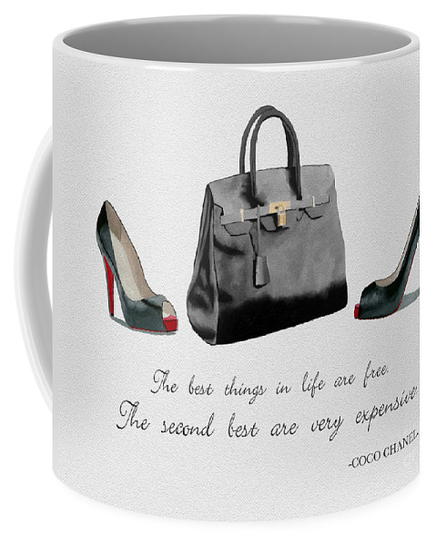 Christian Louboutin Coffee Mug featuring the mixed media Best Things In Life by My Inspiration