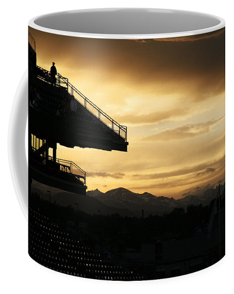 Americana Coffee Mug featuring the photograph Best View Of All - Rockies Stadium by Marilyn Hunt