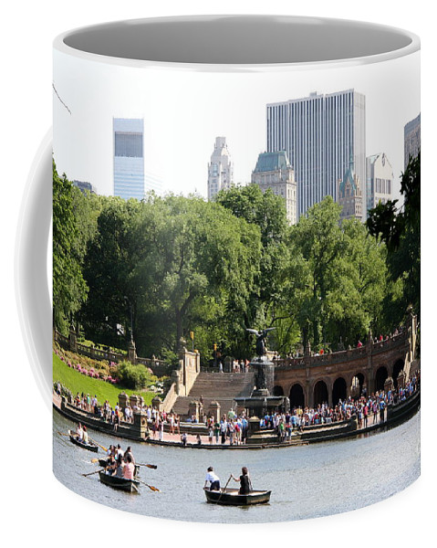 Bethesda Terrace Coffee Mug featuring the photograph Bethesda Terrace And Fountian Nyc by Christiane Schulze Art And Photography