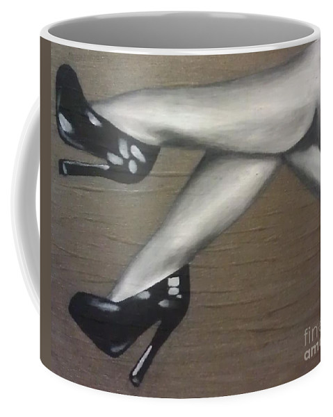 Pin-up Coffee Mug featuring the painting Betty by Briana Nickas