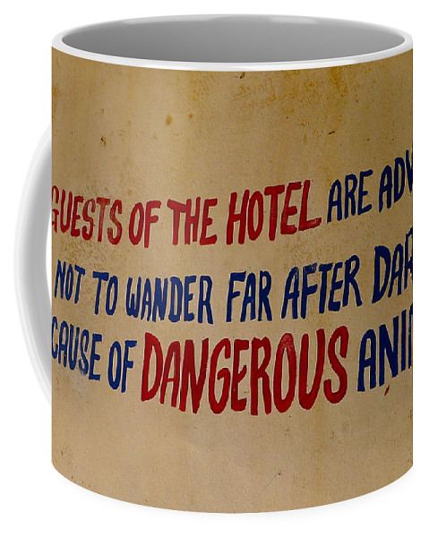 Beware Coffee Mug featuring the photograph Beware by Denise Mazzocco