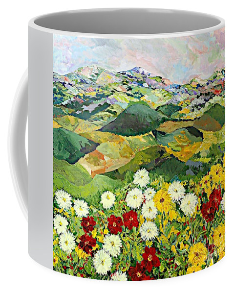 Landscape Coffee Mug featuring the painting Bewitching Twilight by Allan P Friedlander