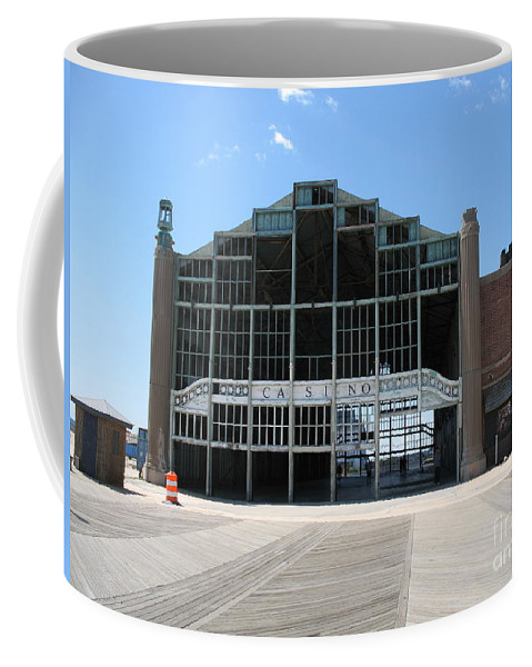Casino Coffee Mug featuring the photograph Beyond Recovery - Casino Ruin Ashbury Park by Christiane Schulze Art And Photography