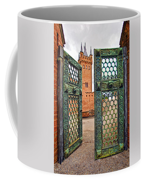 Architecture Coffee Mug featuring the photograph Beyond The Courtyard Gate by Marcia Colelli