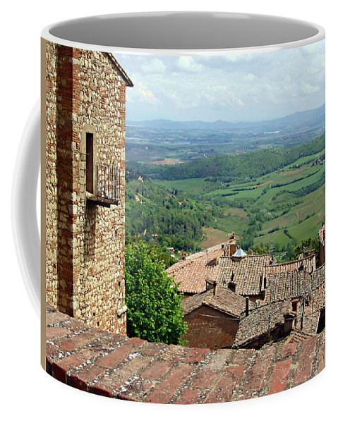 Beyond The Rooftops Coffee Mug featuring the photograph Beyond The Rooftops 1 by Ellen Henneke