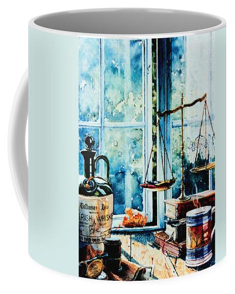 Beyond The Shadow Of Doubt Coffee Mug featuring the painting Beyond The Shadow Of Doubt by Hanne Lore Koehler