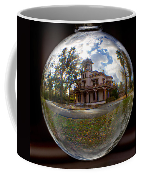 Bidwell Coffee Mug featuring the photograph Bidwell Mansion Through A Glass Eye by Robert Woodward