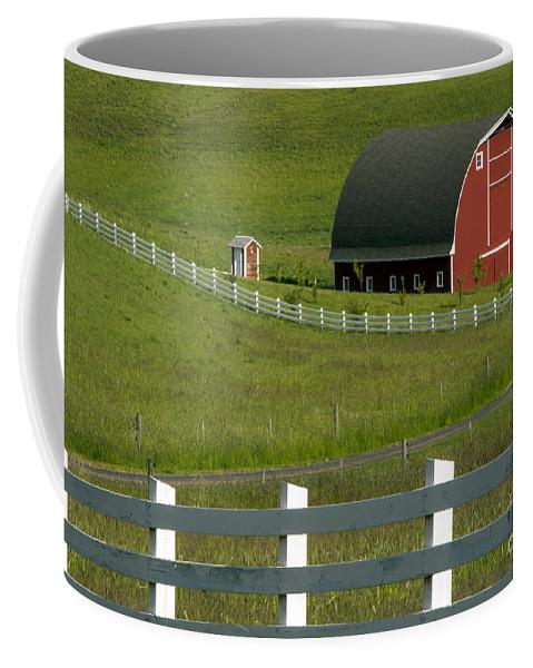 Palouse Area Coffee Mug featuring the photograph Big Barn Little Companion by Bob Phillips