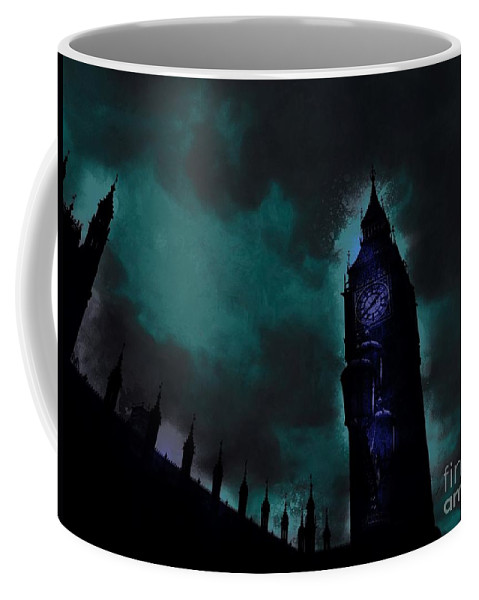 Big Ben Coffee Mug featuring the digital art Big Ben Glowing by Marina McLain