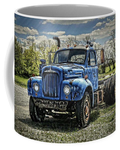 1958 Coffee Mug featuring the photograph Big Blue Mack by Ken Smith