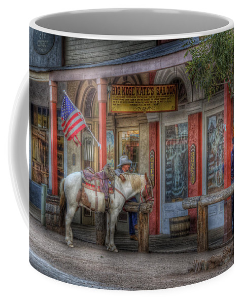 Saloon Coffee Mug featuring the photograph Big Nose Kate by Sharon Seaward