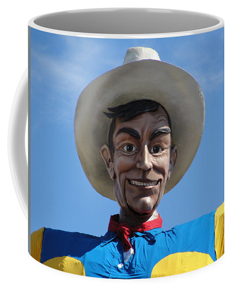 Big Tex Coffee Mug featuring the photograph Big Tex by Charlie and Norma Brock