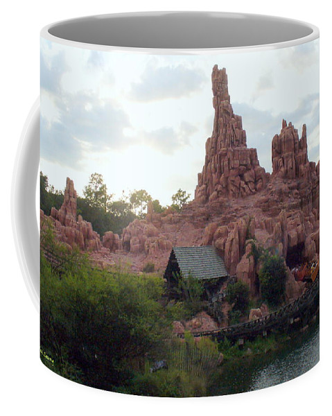 Magical Kingdom Coffee Mug featuring the photograph Big Thunder Mountain by Lingfai Leung