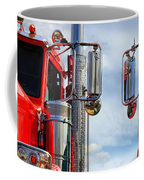 Transportation Coffee Mug featuring the photograph Big Trucks by Bob Orsillo
