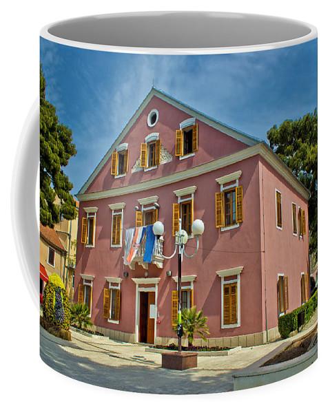 City Hall Coffee Mug featuring the photograph Biograd Na Moru City Hall by Brch Photography