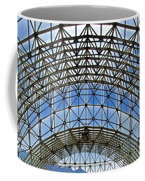 Biosphere2 Coffee Mug featuring the photograph Biosphere2 - Arched Stucture by Jon Berghoff