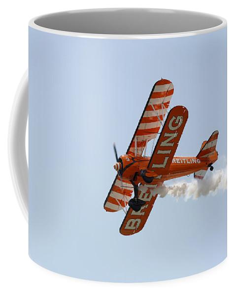Aerobatics Coffee Mug featuring the photograph Biplane by Steve Ball