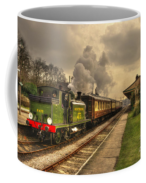 Birch Grove Coffee Mug featuring the photograph Birch Grove At Horsted Keynes by Rob Hawkins