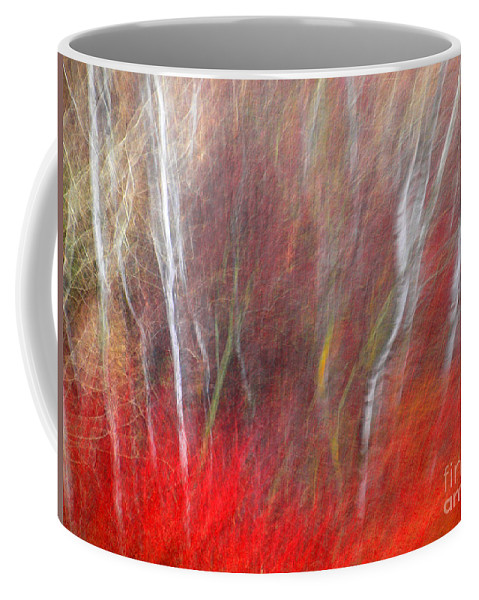 Blur Coffee Mug featuring the photograph Birch Trees Abstract by Tara Turner
