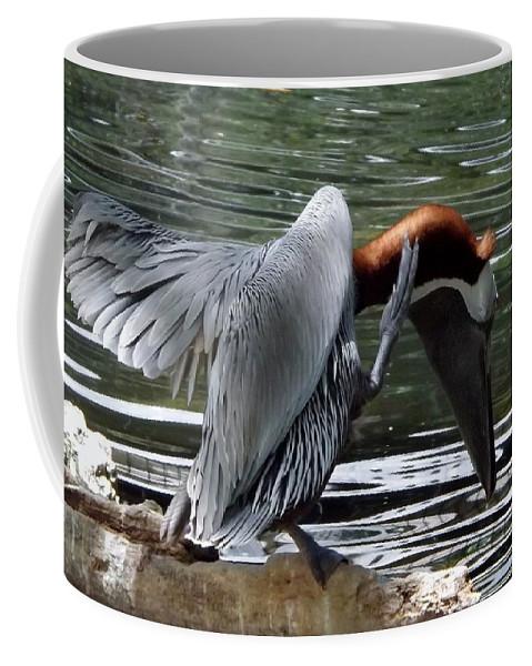 Bird Coffee Mug featuring the photograph Bird Dance by Linda Kerkau