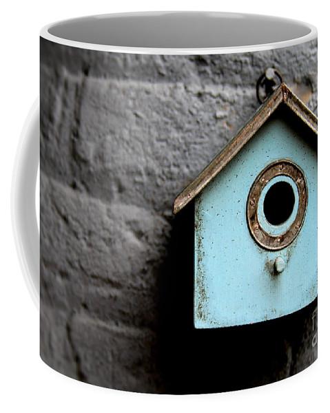 Bird Coffee Mug featuring the photograph Bird House Of Blue By Diana Sainz by Diana Raquel Sainz