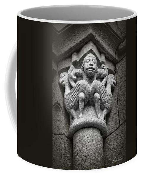 Gargoyle Coffee Mug featuring the photograph Bird Man by Diana Haronis