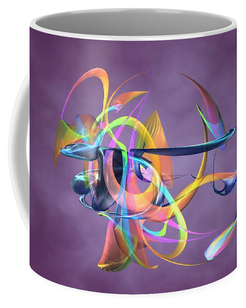 Abstract Art Canvas Prints Coffee Mug featuring the digital art Bird-of-paradise - Abstract by Louis Ferreira
