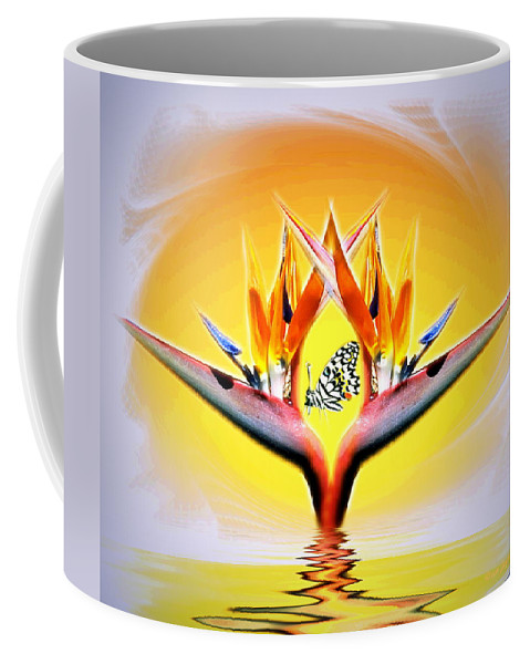 Bird Of Paradise Coffee Mug featuring the digital art Bird Of Paradise by Joyce Dickens