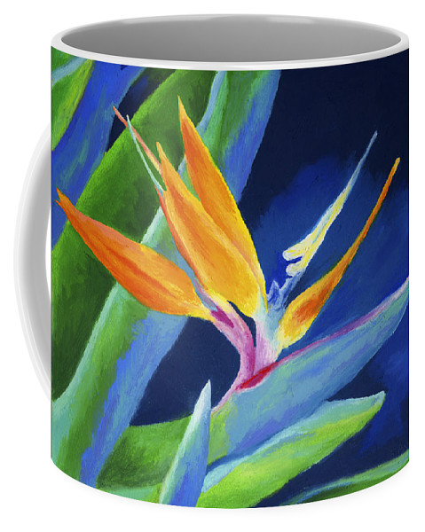 Flower Coffee Mug featuring the painting Bird Of Paradise by Stephen Anderson