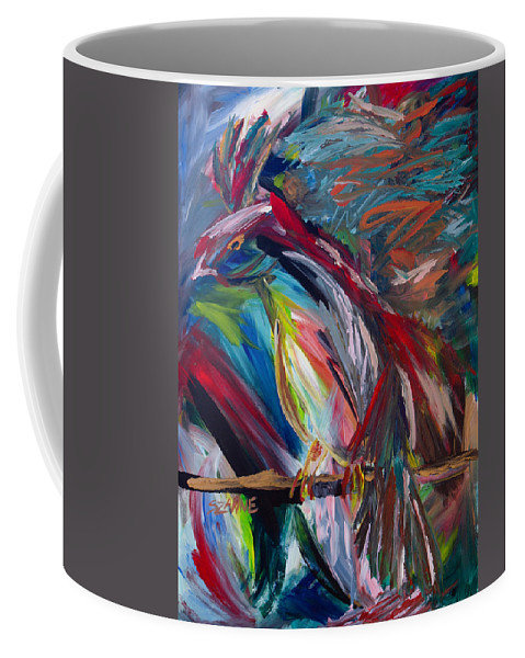 Bird Coffee Mug featuring the painting Bird Of Paradise by Szanne Reynolds