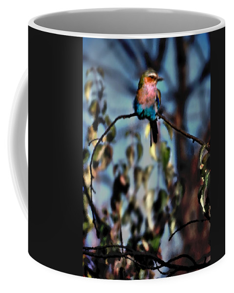 Nature Coffee Mug featuring the photograph Bird On A Limb by Steve Karol