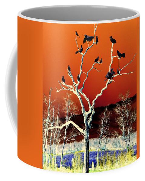 Colors Coffee Mug featuring the mixed media Birds On Tree by Savannah Gibbs