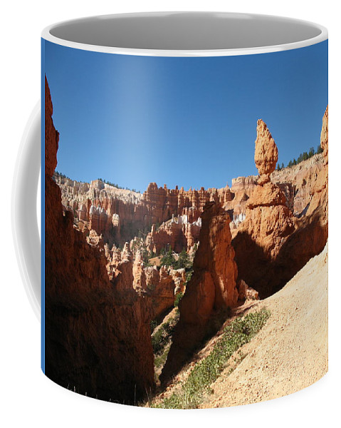 Canyon Coffee Mug featuring the photograph Bizarre Shapes - Bryce Canyon by Christiane Schulze Art And Photography