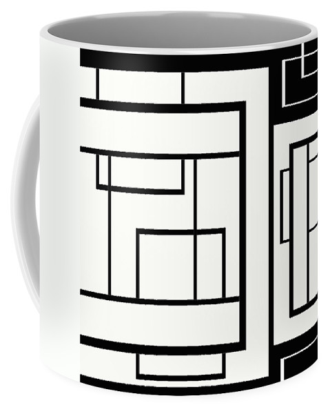 Black And White Designs Coffee Mug featuring the digital art Black And White Art - 154 by Ely Arsha