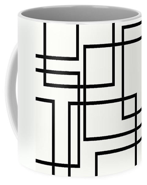 Black And White Designs Coffee Mug featuring the digital art Black And White Art - 156 by Ely Arsha
