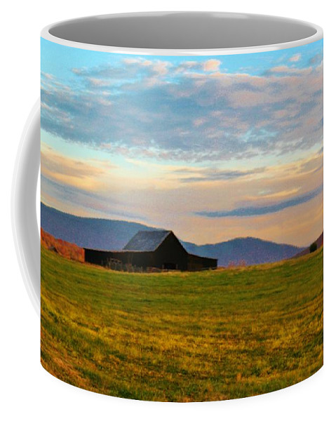 Kerisart Coffee Mug featuring the photograph Black Barn by Keri West