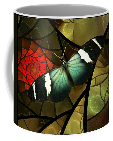 Butterfly Coffee Mug featuring the photograph Black Beauty by Ellen Cannon