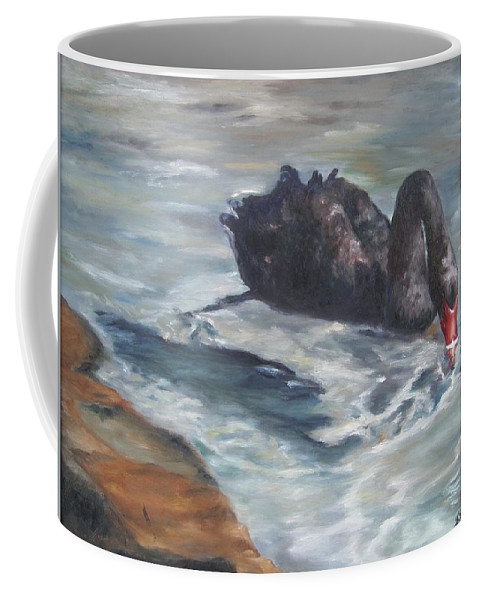 Calm Coffee Mug featuring the painting Black Elegance by Lori Brackett