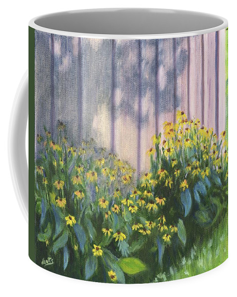 Flowers Coffee Mug featuring the painting Black Eyed Susans by Deborah Butts