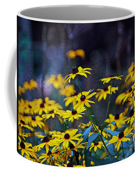 Mixed Media Art Coffee Mug featuring the photograph Black-eyed Susans by Patricia Griffin Brett